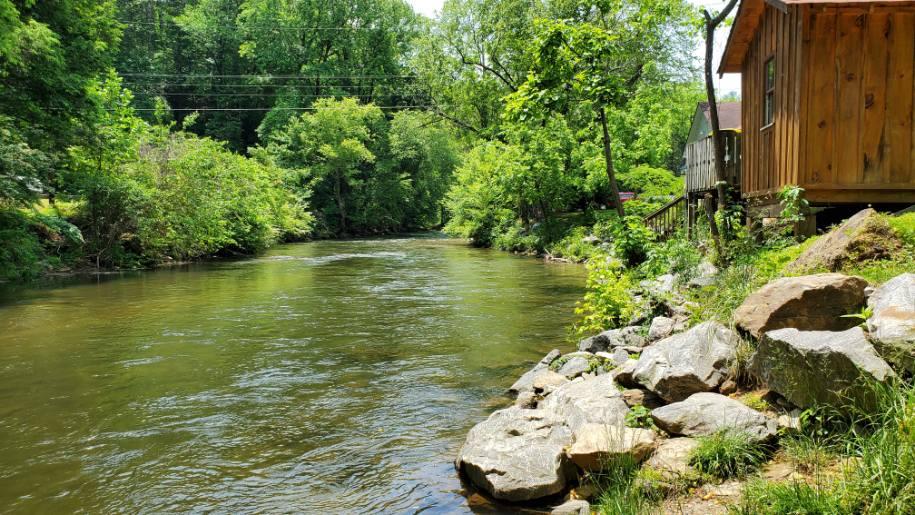 A river in Helen, Georgia